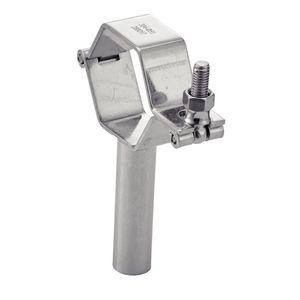 screw pipe clamp / stainless steel / hexagonal