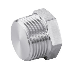 plug with hexagonal head / male / stainless steel