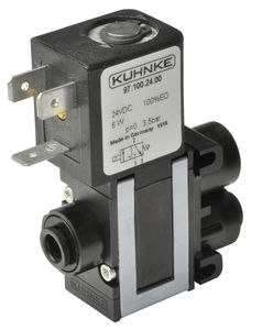 direct-operated solenoid valve / 3/2-way / NO / water