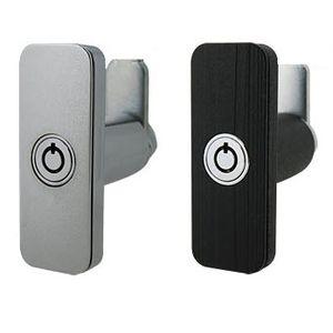 recessed handle / flush / door with lock / nickel