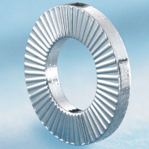 locking washer / round / external-toothed / stainless steel