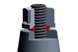 hexagonal nut / steel / hydraulic / self-sealing