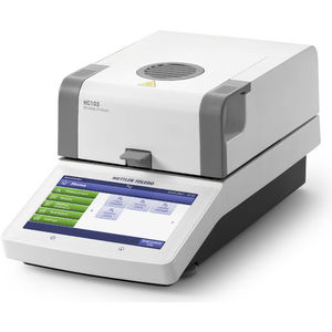 moisture analyzer / solids / benchtop / with touchscreen