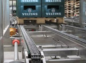 chain conveyor / for pallets / modular