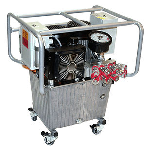 oil hydraulic pump / electrically-powered / three-stage / high-flow