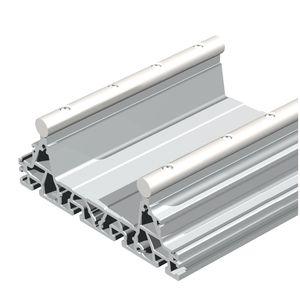 guide rail / steel / aluminum / precision