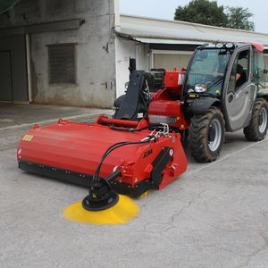 sweeper bucket / for skid steer loaders / for backhoe loaders