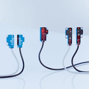 miniature photoelectric sensor / with background suppression / through-beam / rectangular