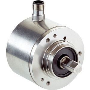 stainless steel rotary encoder / absolute / with SSI interface / solid-shaft