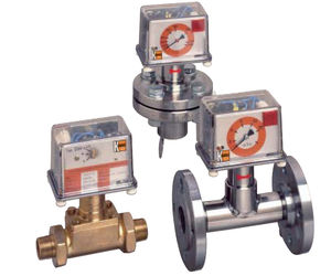 paddle flow switch / for liquids / stainless steel