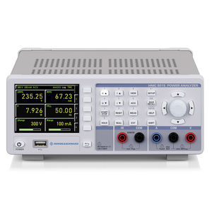 electrical network analyzer / power / benchtop / compact