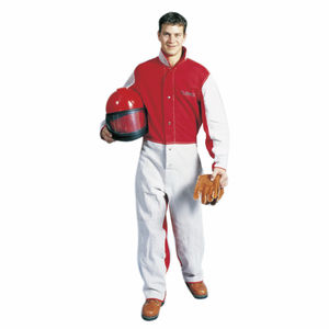 work coveralls / leather / cotton / for sandblasting