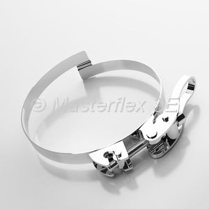 stainless steel hose clamp / bridge / corrosion-proof / rugged