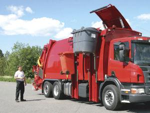 waste semi-trailer