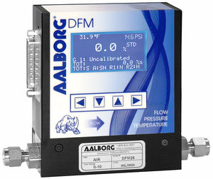 thermal flow meter / mass / for gas / programmable