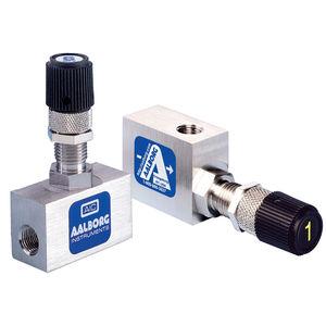 needle valve / flow control / shut-off / for air