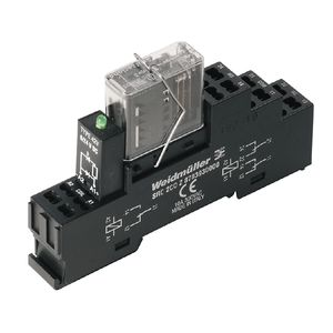 24VDC electromechanical relay / coupling / with guided contacts / DIN rail