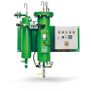 pressure filtration unit / fuel / for water / automatic