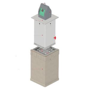 steel underground bin