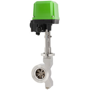 disc valve / electrically-operated / regulating / for gas