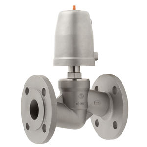 flange valve / plug / pneumatically-operated / shut-off