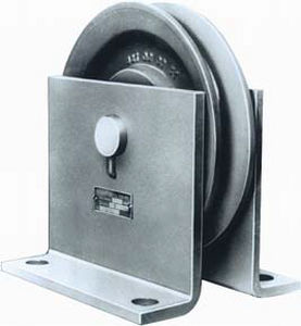 pulley with taper bushing / for steel wire rope