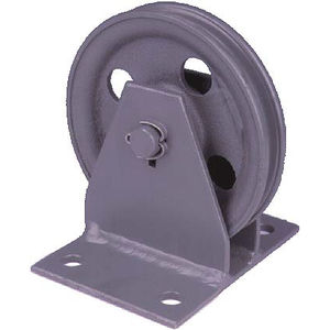 roller pulley / for steel wire rope / vertical