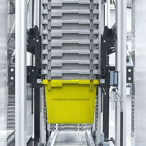 automatic materials handling system / tray / for containers / high-speed