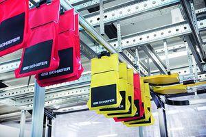 skate wheel conveyor / horizontal / modular / automatic
