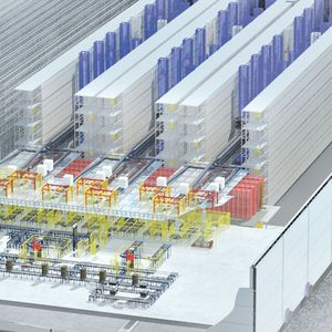 vertical automatic storage system / horizontal / for warehouses