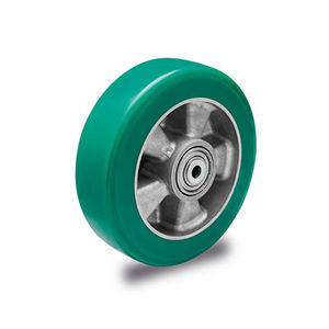 wheel with solid tire / polyurethane-coated / for heavy loads
