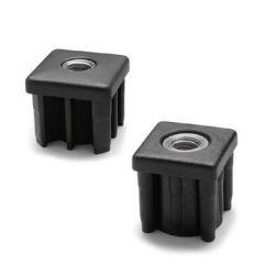 threaded insert / plastic / nickel-plated brass / square
