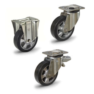 wheel with solid tire / rubber / aluminum / handling