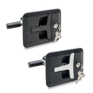 key lock latch / steel / zinc / zinc-plated steel