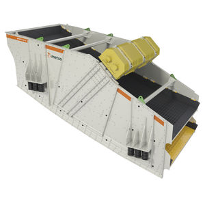 linear vibrating screener / for bulk materials / for mining / double-deck