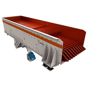 grizzly feeder / vibrating / continuous-motion / for conveyor belts