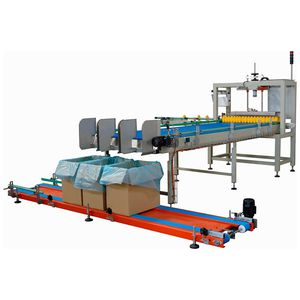 top-loading case packer / for bottles / for empty cans / for bulk materials
