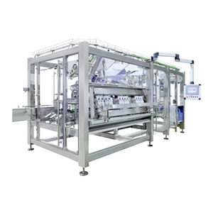 automatic tray packer sleeve wrapping machine