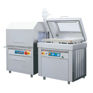 vacuum packing machine / with shrink tunnel / bell type