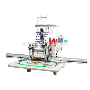 single-head embroidery machine / computerized / 12 needles