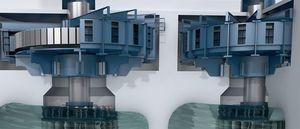 hydraulic turbine / Francis / vertical / for power generation