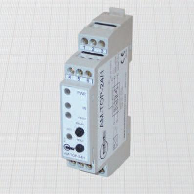 signal amplifier / electronic / for sensors / DIN rail