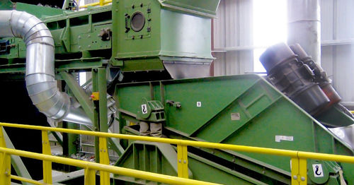 vibrating separator / glass / waste recycling