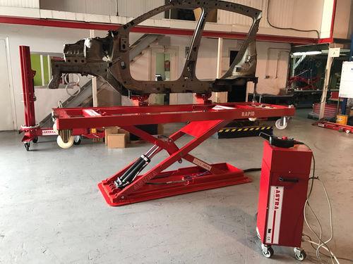 scissor lift table / electric / hydraulic / mobile