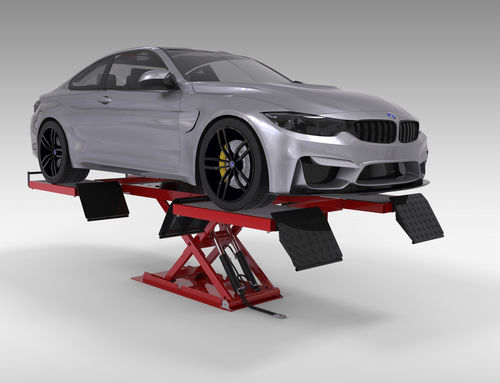 scissor lift table / hydraulic / stationary