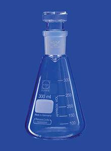 borosilicate glass vial / for iodine