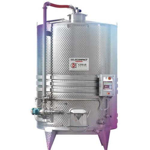 vertical tank / for wine / cylindrical / industrial