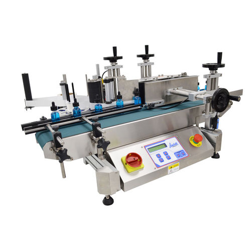 semi-automatic labeler / for self-adhesive labels / in-line / side