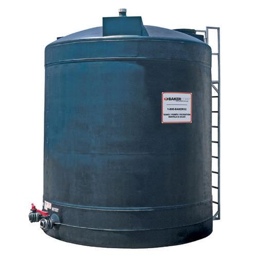 chemical tank / polyethylene / storage / for wastewater treatment