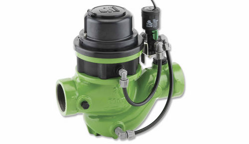 diaphragm valve / electrically-operated / for water / actuated